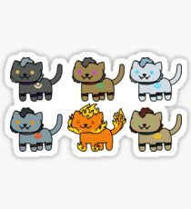 Neko Atsume Feral Druid Worgens Sticker