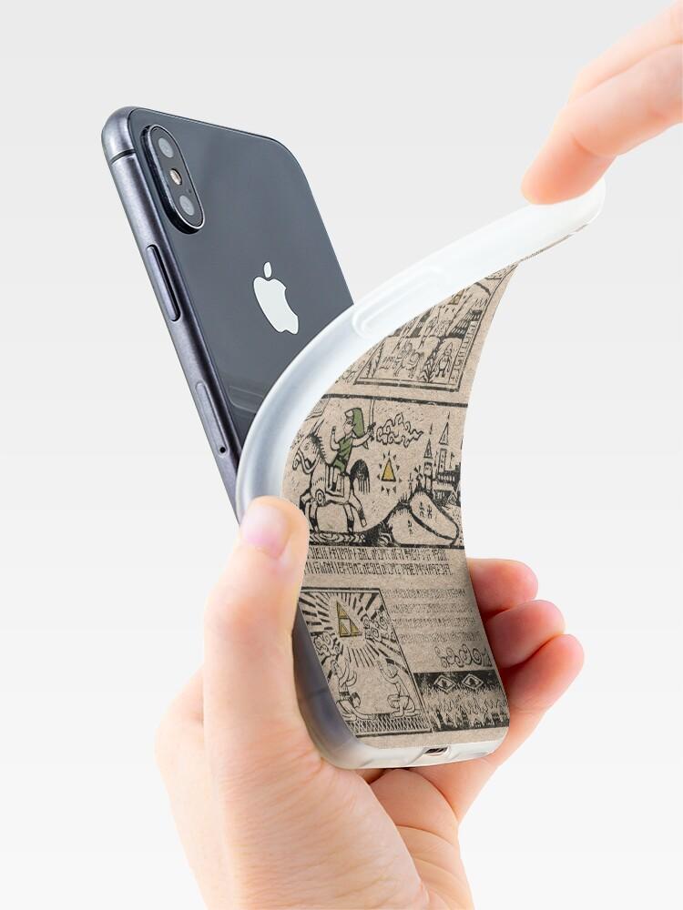 Vista alternativa de Funda y vinilo para iPhone Tapices del héroe del tiempo