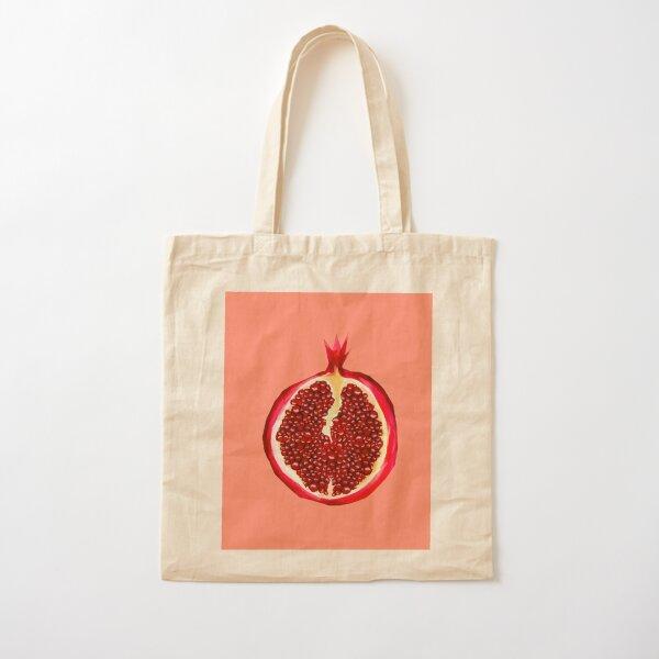 Pomegranate Cotton Tote Bag