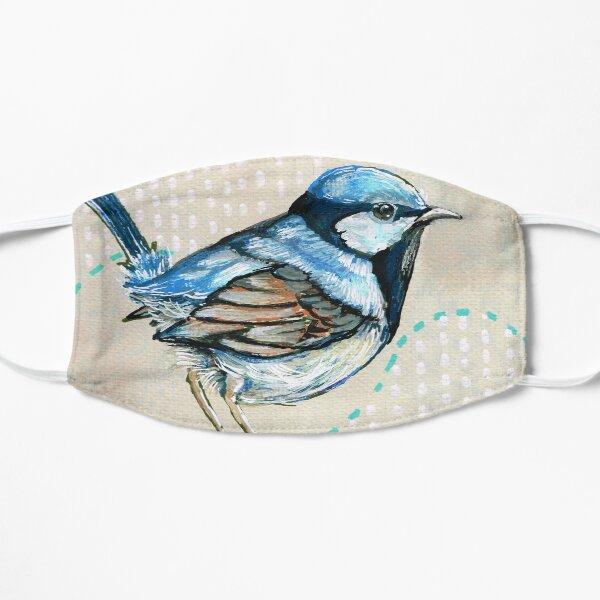 Blue Wren Flat Mask