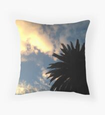 Palm Tree - The Sun Behind The Clouds Throw Pillow