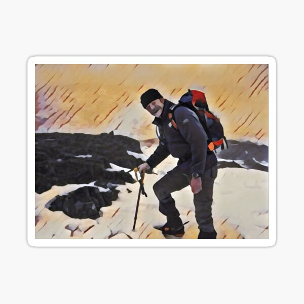 Winter on the Mountain Sticker