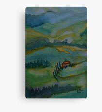 Shades of Tuscany Green Canvas Print