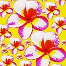 Frangipani Poster Style Print Skirt by Melissa Park