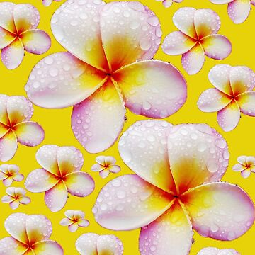 Pretty Pale Yellow Frangipani Skirt by lollly