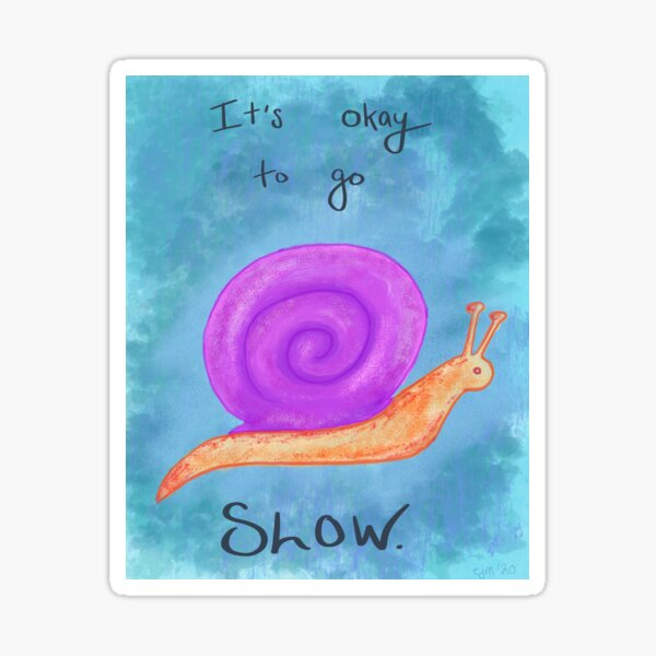 Demisexual Snail Sticker