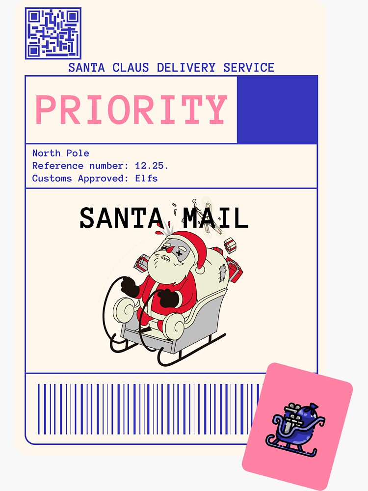 Delivery Labels, santa by ds-4