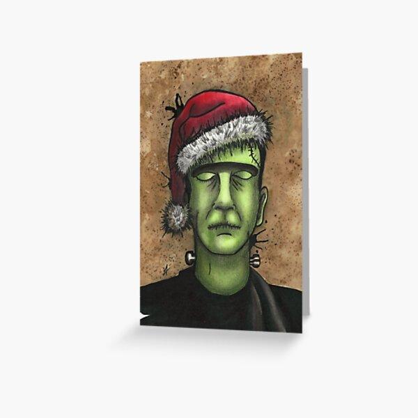 Frankenstein's Monster Christmas Greeting Card