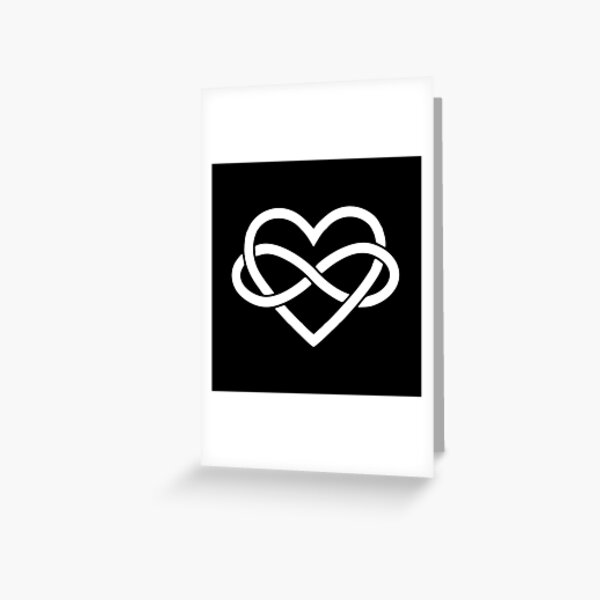 BEST TO BUY - Polyamory Infinity Heart and Infinite Love Greeting Card