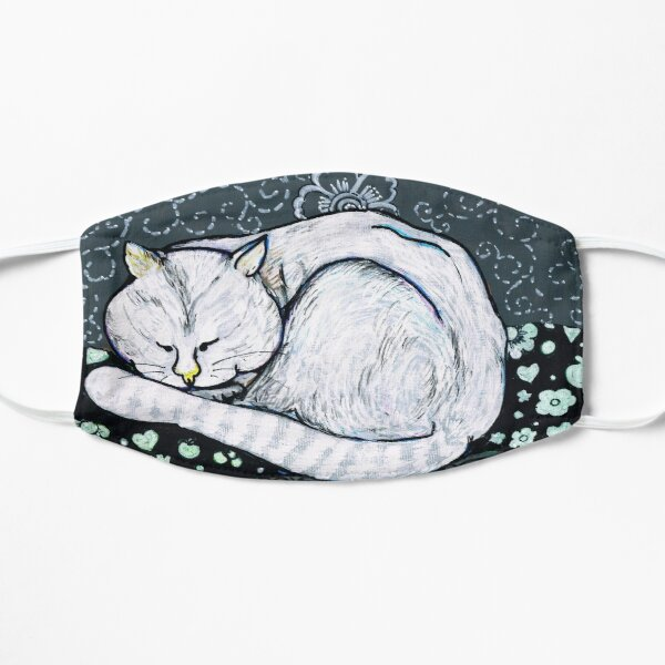Sleepy Cat Flat Mask