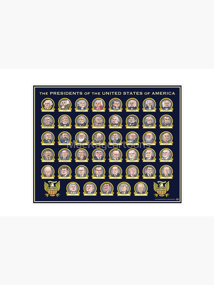 Presidents of the United States of America (Design One) by MacKaycartoons
