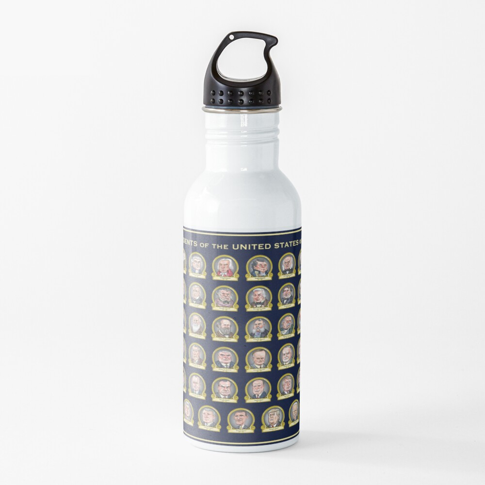 Presidents of the United States of America (Design One) Water Bottle