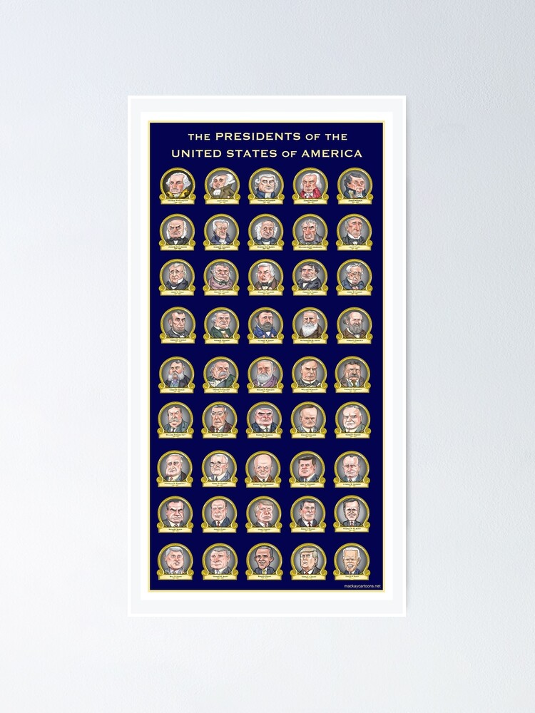 Alternate view of Presidents of the United States of America (Design One) Poster