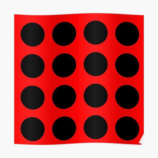 Red Ladybug Pattern Poster