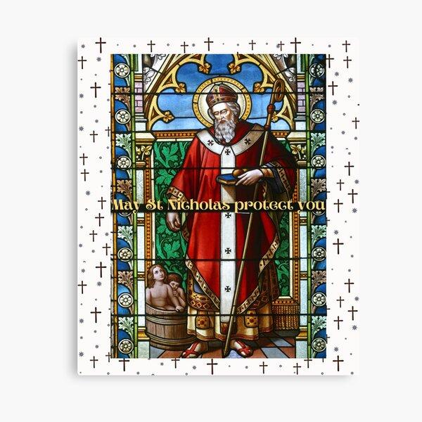 May St. Nicholas protect you Canvas Print