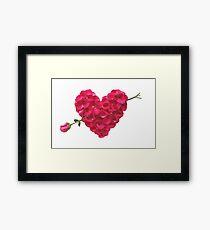 Arrow to Heart Framed Print