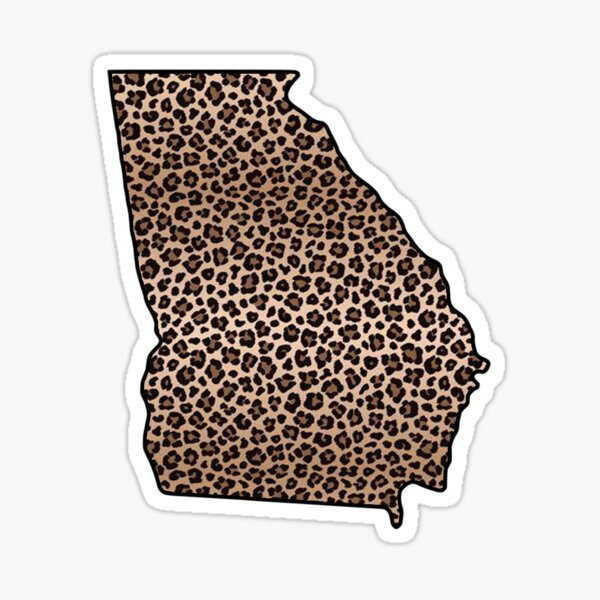 Georgia in Leopard Print Sticker