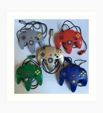 N64 Controllers Art Print