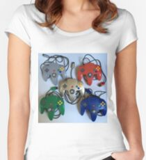 N64 Controllers Women's Fitted Scoop T-Shirt