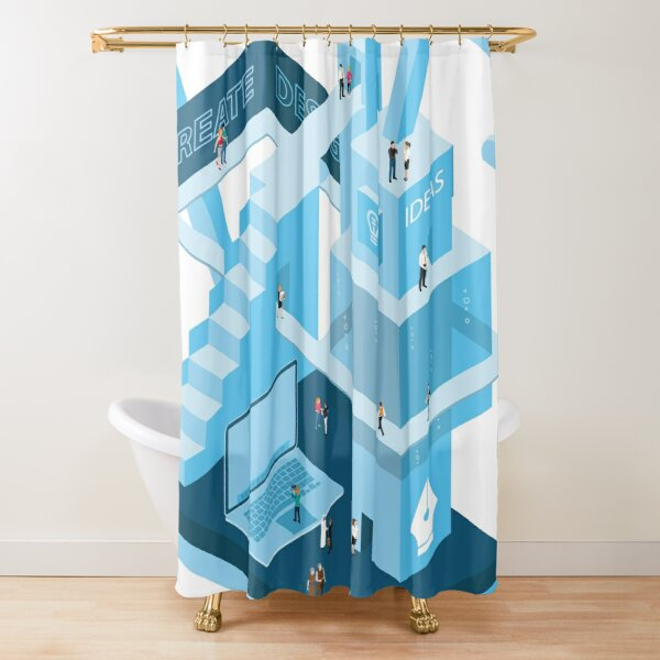 The World of Design Shower Curtain