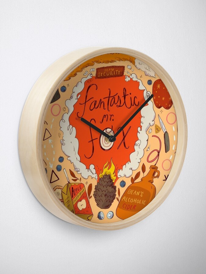 Alternate view of Fantastic Mr Fox Illustration  Clock