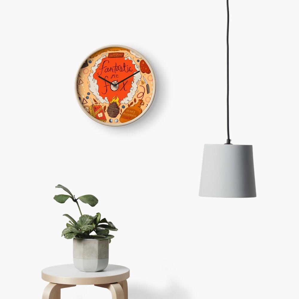 Fantastic Mr Fox Illustration  Clock