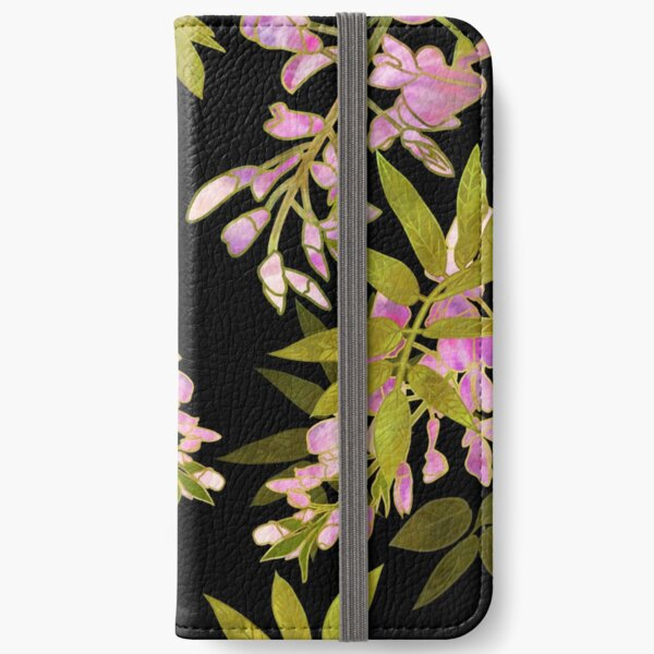 Pink Wisteria Blossom iPhone Wallet