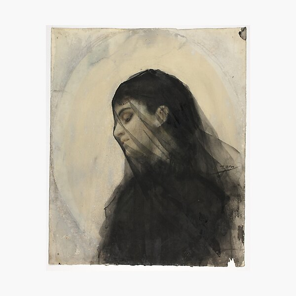 19th Century Head of a Veiled Woman By  Anders Zorn Swedish, 1860-1920 Couture Swedish History Swedish Painter Artist Swedish art Gift Idea For Artists Painters Artsy Art Lover Teacher    Photographic Print
