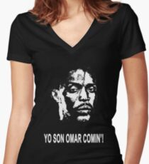 Omar Comin' Women's Fitted V-Neck T-Shirt