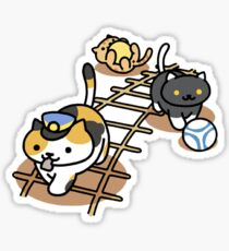 Neko Atsume - Conductor Whiskers and Friends Sticker