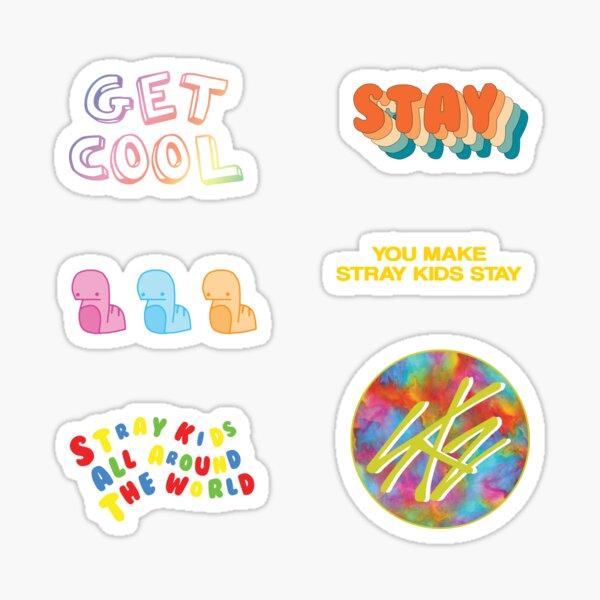 PAQUETE DE PEGATINAS - Stray Kids SKZ Quotes Funny Cute Collage BRIGHT [COMPRAR MEDIANO O MÁS GRANDE PARA EL PAQUETE DE PEGATINAS] Pegatina