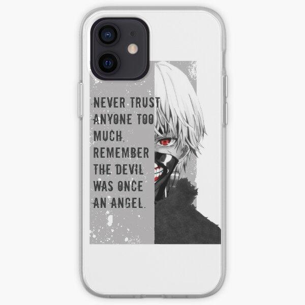 Tokyo Ghoul Kaneki avec citation Coque souple iPhone