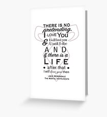 Clace quote Greeting Card