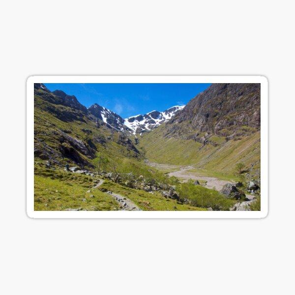 "The ""Hidden Glen"" in Glencoe, Scotland. Sticker"