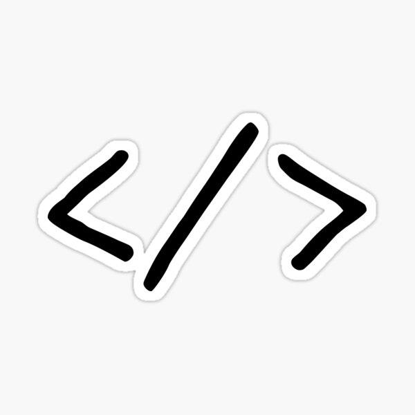 Coder Symbol Sticker