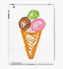 handmade drawing pastel chalks ice cream iPad Case/Skin