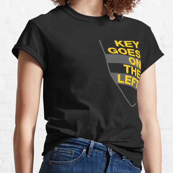 Key Goes On The Left - Yellow/Gray Classic T-Shirt