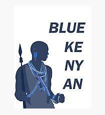 Blue Kenyan Photographic Print