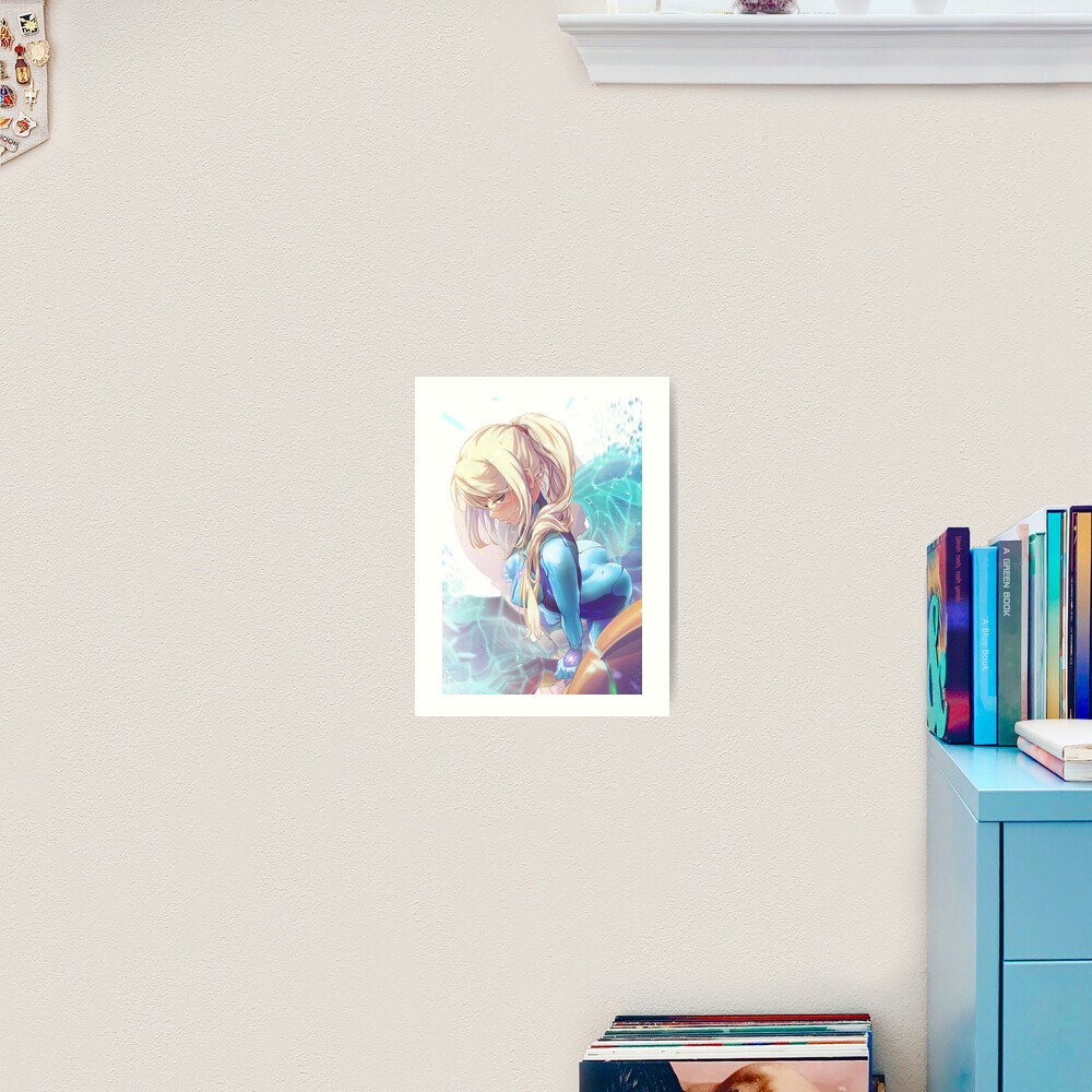Samus zerosuit   Metroid Art Print
