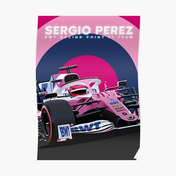 Sergio Perez BWT Rennpunkt F1 Team Poster