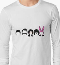 Bobs Burgers Belcher Line Up Long Sleeve T-Shirt