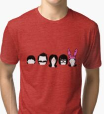 Bobs Burgers Belcher Line Up Tri-blend T-Shirt