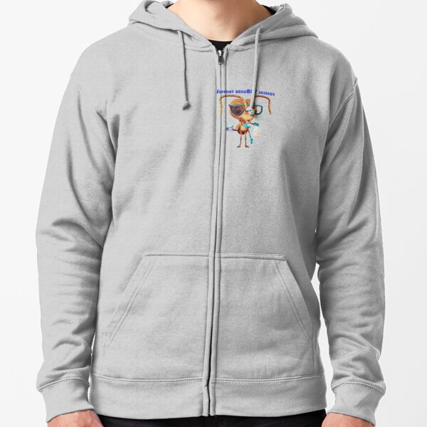 Antonia supports brilliANT science! Zipped Hoodie