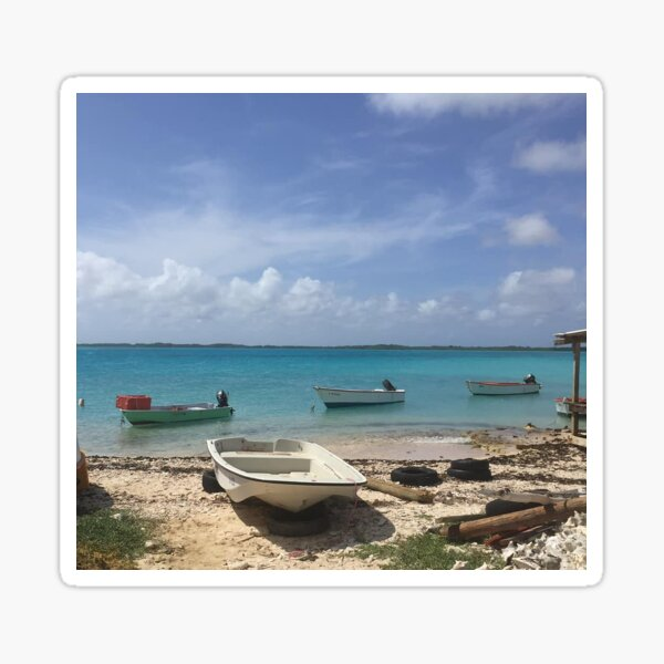 Beach, Caribbean, Bonaire Sticker