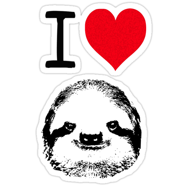 I Love Sloths by Rob Price