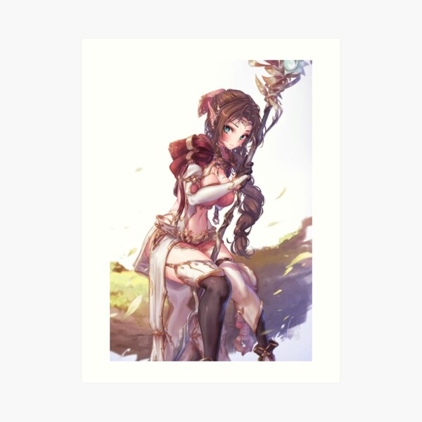 Aerith Fantasy   Final Fantasy VII Art Print