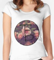 the front bottoms floral logo Women's Fitted Scoop T-Shirt