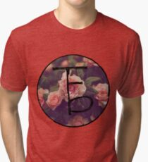 the front bottoms floral logo Tri-blend T-Shirt