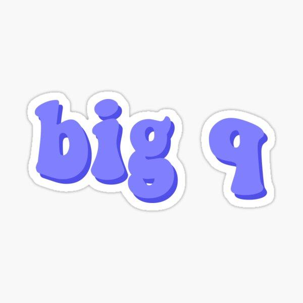 """""""Big Q"""" Text Sticker"""