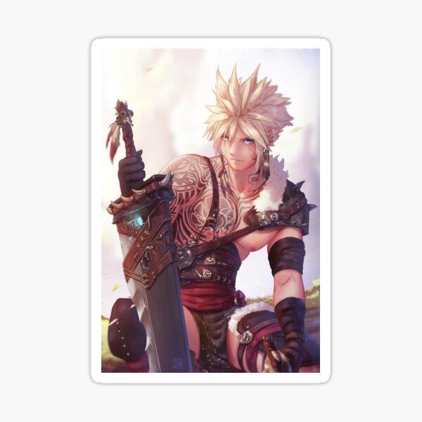 Cloud Barbarian   Final Fantasy VII Sticker